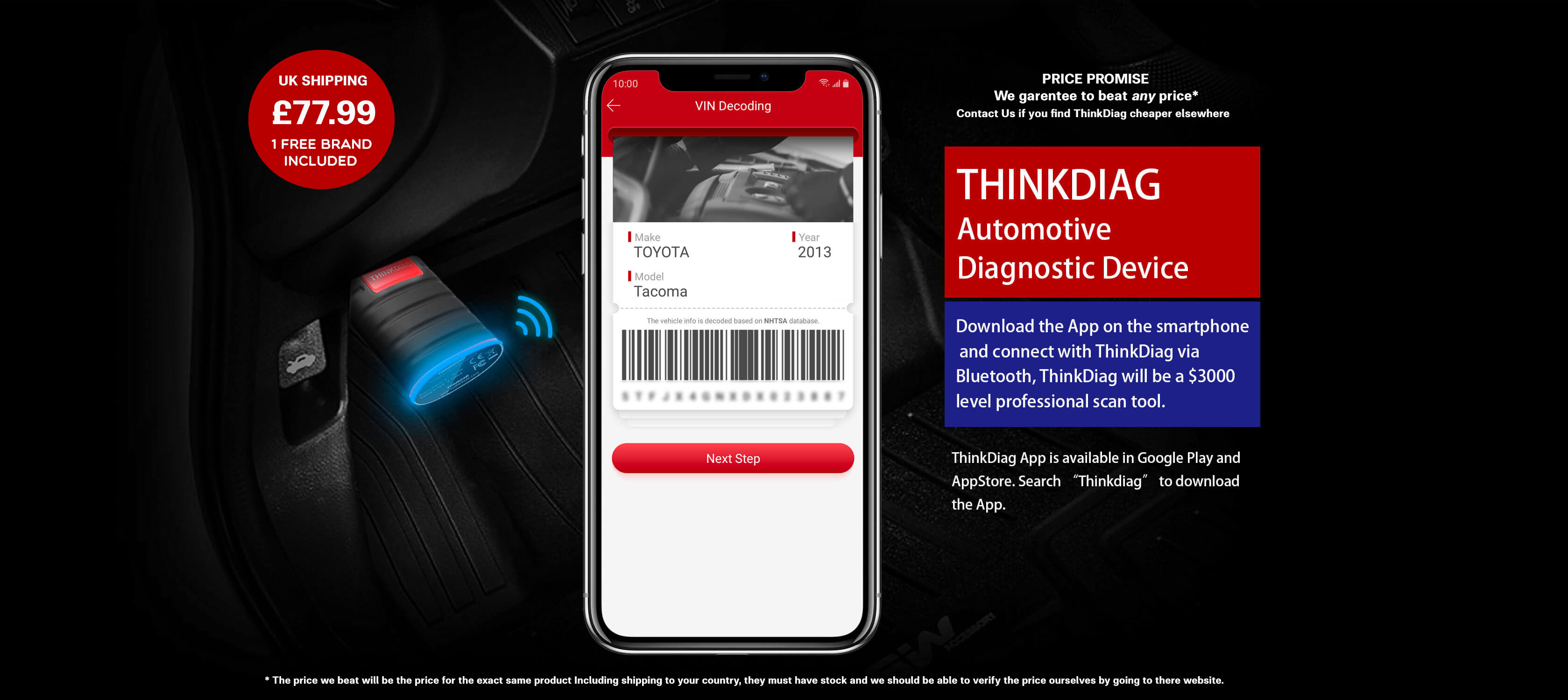 THINKDIAG Advanced Automotive Diagnostic Device. Download The App On A Tablet Or Smartphone then Connect Via Bluetooth To ThinkDiag.Thinkdiag will become a £2500 level profeshional tool that will not disapoint and could save you alot of money with the sometimes high prices of main dealers.